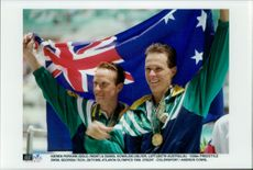 OS in Atlanta 1996. Daniel Kowalski (Silver) and Kieren Perkins (Gold), in 1500m Frisim
