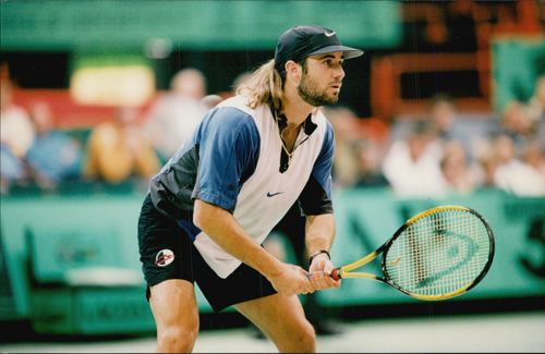 Andre Agassi participates during the Barcy competition.