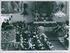 People gathered in church during an event.