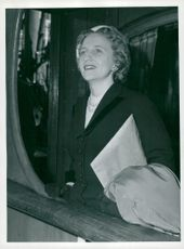 Margaret Truman, daughter of Harry Truman, back from Finland