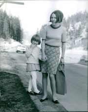 Danielle Gaubert  wife of Jean-Claude Killy with her daughter Emilie Killy