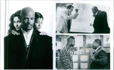 """Keenen Ivory Wayans, Jada Pinkett Smith, Charles S. Dutton, Salli Richardson, and Andrew Divoff in the poster and the scenes from the film, """"A Low Down Dirty Shame""""."""