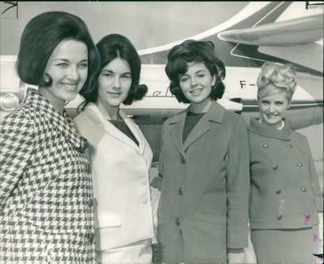 1964 Miss Universe candidates going to Miami