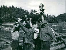 "A scene from the film, ""Sången om den eldröda blomman"", 1960."