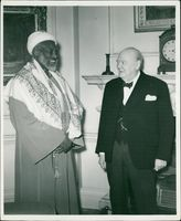 Winston Churchill with Sir. Abdel Rahman el Mahdi
