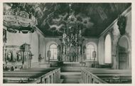 Postcard of the interior of Ulricehamns Church (restored by 1937)