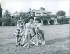 Silvana Mangano with her children.