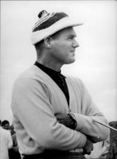 Golf player Kel Nagle during the British Open 1960