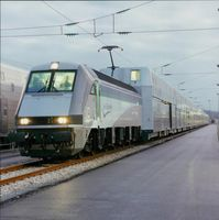 Channel Tunnel:Passenger Shuttle Wagon on French Terminal.