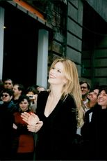 Claudia Schiffer at the inauguration of a Victoria's Secret store on 5th Avenue in Manhattan