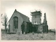 Presevation work being carried out on the tower of St. Mary's Church, Islington.