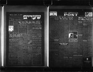 Copies of newspapers that were thrown out over the North Pole in microfilm format at SAS flights from Copenhagen