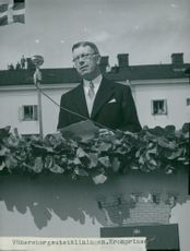 The Crown Prince speaks at the inauguration of the Vänersborg Exhibition