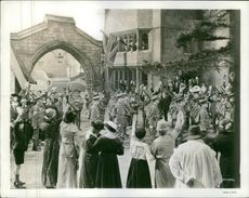 People gathered in street during an event and enjoying during Old War Varius.