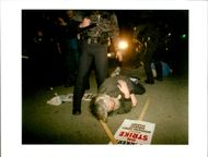 USA Newspaper:Tommy hients lies at the feet of richmond calif.