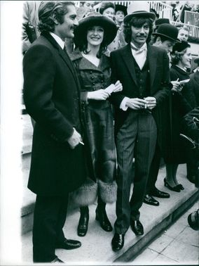Omar Sharif, Michele Frascoli and Antoine standing together during an event.