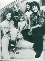 Michael Landon with wife Lynn and children Michael Jr., Shawna and Leslie Ann