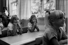 Crown Princess Victoria during his first school day.