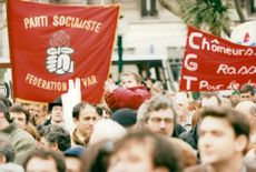 "France, demonstrations. The Socialist ""Train of Liberty"" demonstrates in the right-voting-Toulon"