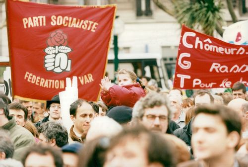 """France, demonstrations. The Socialist """"Train of Liberty"""" demonstrates in the right-voting-Toulon"""