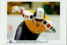 Winter Olympics in Nagano 1998. Speed ??Skating. Gianni Romme took gold in the 10,000 meter race