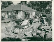 Floods 1966-1989:The foundation of bungalow.