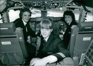 Lynn Barton, Wendy Barnes and Jill Develin set to become the first female pilots to fly for British Airways. 1987.