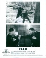 Scenes from the movie Fled with Laurence Fishburne and Stephen Baldwin, 1996.