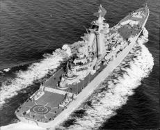 """""""Kirov"""" during its driving in the North Sea"""