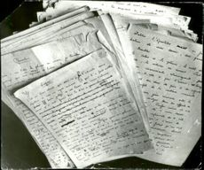 """August Strindberg's original manuscript for """"A fool's defense"""" found in the safe at the anatomical department at Oslo University."""