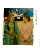 Queen Noor of Jordan talks with Reuma Weizman.
