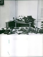 Weapons lying on the table, 1968.