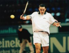 Renzo Furlan during the Davis Cup meeting Sweden - Italy.