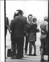 Singing Star Andy Williams (personal friend of Robert F. Kennedy) at airport before departure of plane.