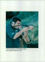 Martin Johnson on the Firing range.