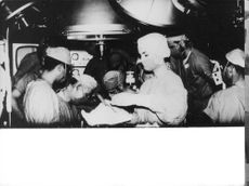 DOCTORS IN THE OPERATION HALL