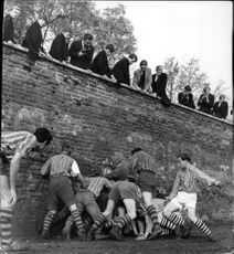 The St Andrew's Day Wall Game.
