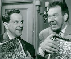 "Ingvar Kjellson and Åke Fridell in ""Oscar"""