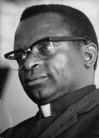 Bishop Abel Tendekayi Muzorewa in a portrait.