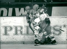 Ice Hockey: Tackling. International Sweden-Soviet Union