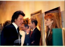 Sarah Ferguson in concert with Paul Gaisford during a visit to an exhibition.