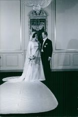 Princess Benedikte and Richard, 6th Prince of Sayn-Wittgenstein-Berleburg weding picture.