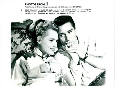 Judy Holliday and Richard Conte.