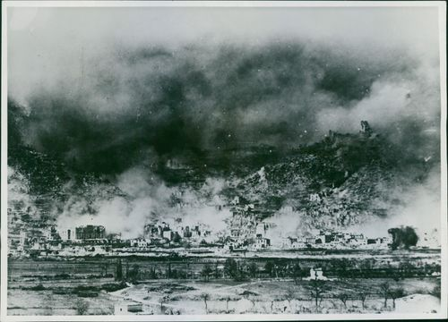 Cassino is now completely in ruins after a concentrated bombardment.