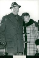 Maurice Chevalier in Gstaad with Mireille Mathieu