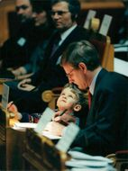 Carl Bildt with the son Nils