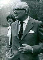 Leonard James Callaghan and Audrey Elizabeth Callaghan photographed together. 1978.