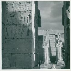 Göran Schildt picture depictions, Ramses II as Osiris in the Ramesseum temple