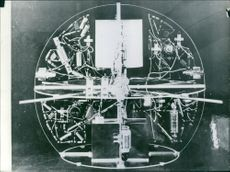 Interior of an artificial satellite.