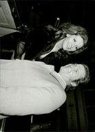 Roger Moore and his wife Luisa at the farewell ceremony for Peter Sellers